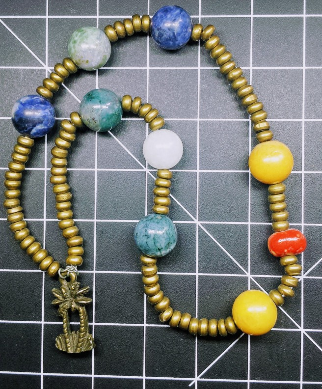 An image of the prayer beads I use for the god Apollon