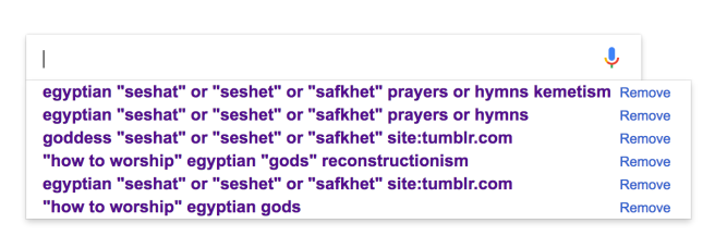 How I searched for Seshat