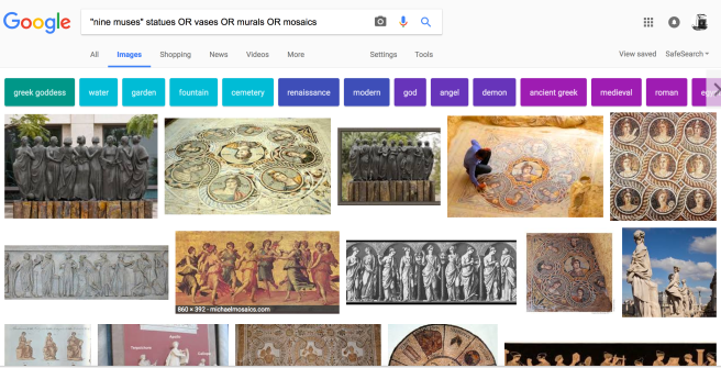 This is a successful search for the Nine Muses.