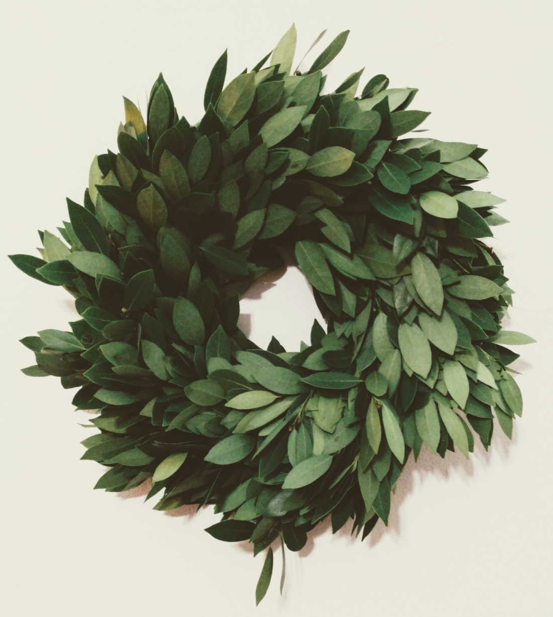 The solstice wreath, view from the front
