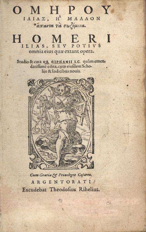 Homer 1572 edition — Ilias Griphanius