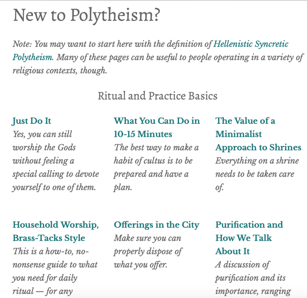 An image version of what exists on the New to Polytheism? page.